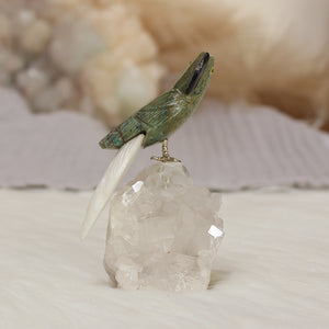 Carved bird on Crystal Stand 03