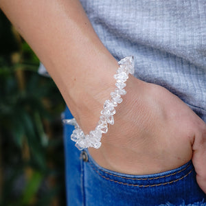 Clear Quartz Chip Bracelet