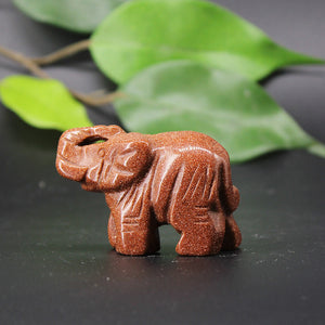 Medium Goldstone Elephant