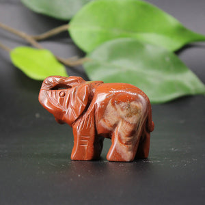 Medium Red Jasper Elephant