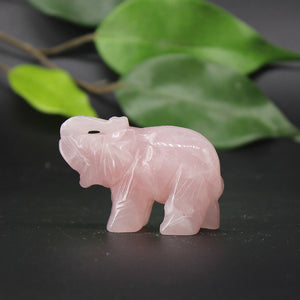 Medium Rose Quartz Elephant