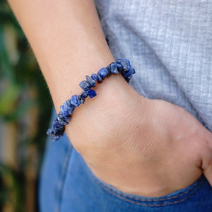 Sodalite Chip Bracelet 5pc Pack