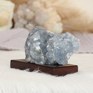 Celestite Cluster on Stand