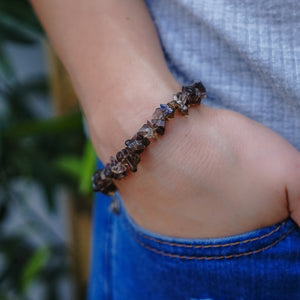 Smokey Quartz Chip Bracelet