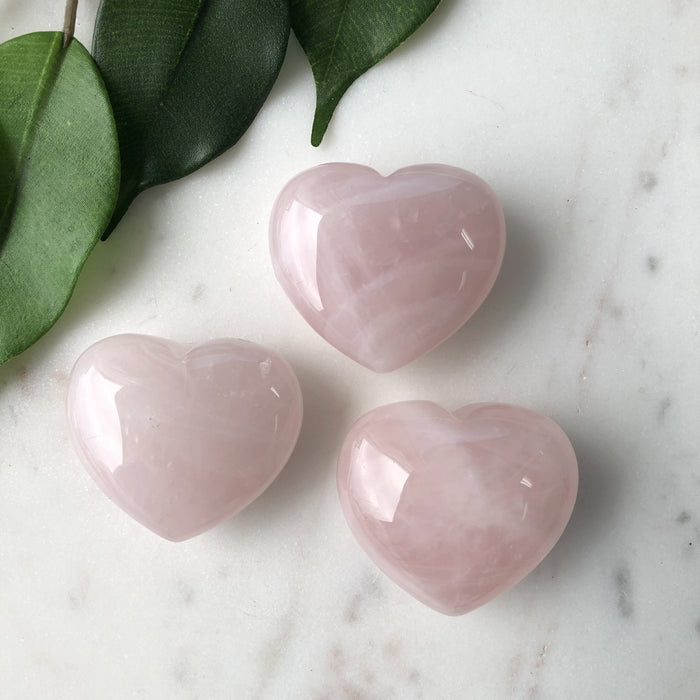 Rose Quartz Heart 1pc