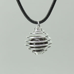 Small Spiral Cage - Silver Colour