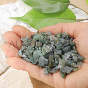 Moss Agate Chips 1KG