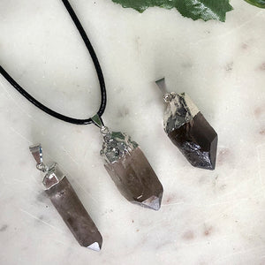 Smokey Quartz Raw Crystal Pendant 1PC