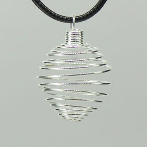 Spiral Cage - Silver Colour Soft 100pc