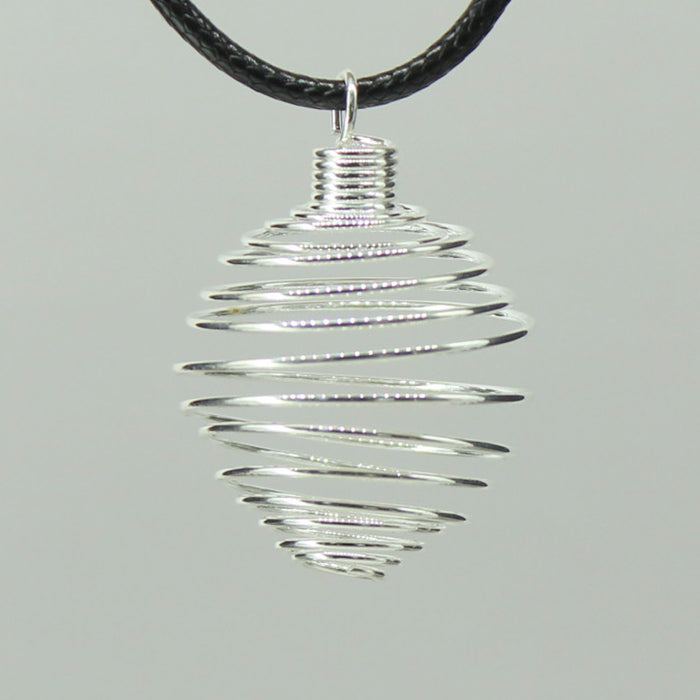 Spiral Cage - Silver Colour Soft Large