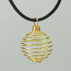 Spiral Cage - Gold Colour Soft 10pc