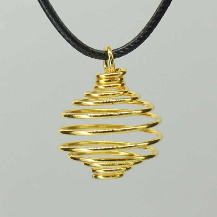 Spiral Cage - Gold Colour Hard small 10 pcs
