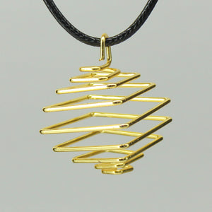 Square Spiral Cage - Gold Colour Hard 10pc
