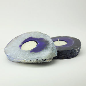 Purple Agate - Tealight Candle Holder