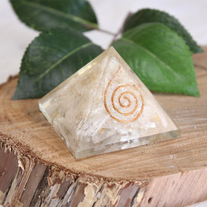 Orgonite Pyramid - Selenite