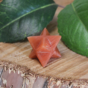 Orange Aventurine Merkaba - Small 1pc