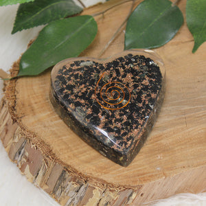 Orgonite  Heart - Black Tourmaline