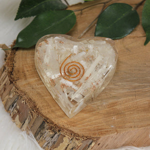 Orgonite  Heart - Selenite