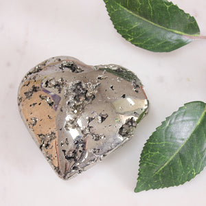 Pyrite Heart 1pc