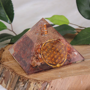 Orgonite Pyramid Large - Carnelian