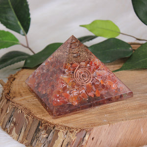Orgonite Pyramid Medium - Carnelian
