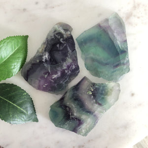 Fluorite Raw Slice 1pc