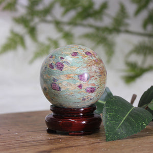 Ruby in Fuchsite Sphere RF05