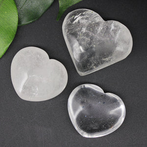 Clear Quartz Heart 1pc