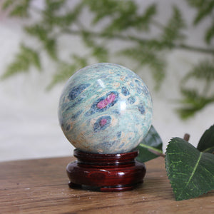 Ruby in Fuchsite Sphere RF06