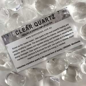 Clear Quartz Info Card 25pc pack