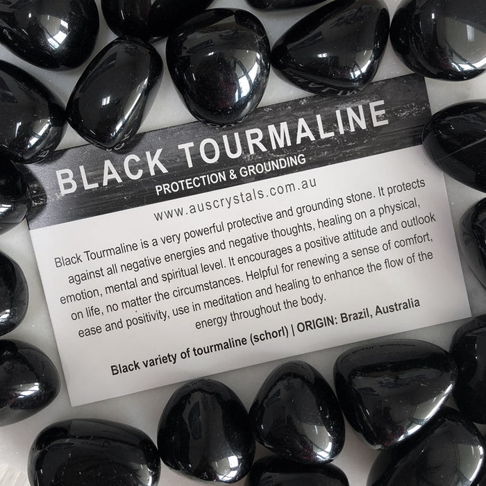 Black Tourmaline Info Card 25pc pack