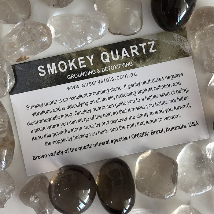 Smokey Quartz Info Card 25pc pack