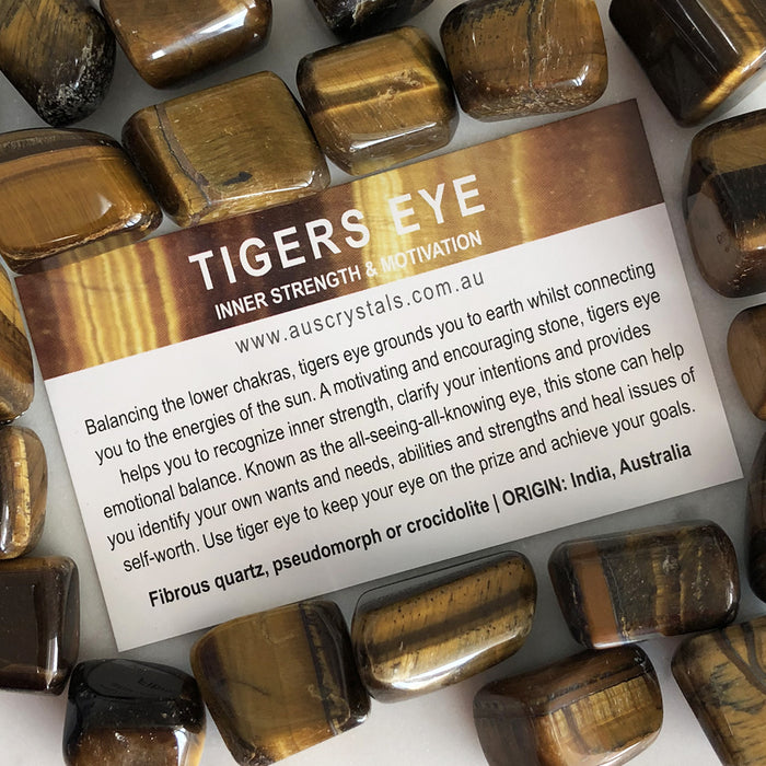 Tigers Eye Info Card 25pc pack