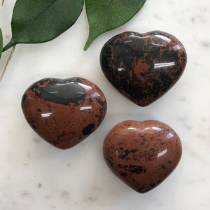 Mohogany Obsidian Heart 1pc