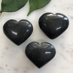 Black Onyx Heart 1pc