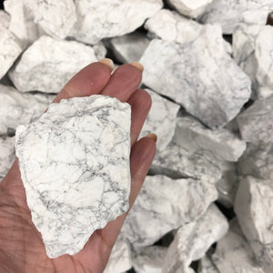 White Howlite Rough (Small & Large)