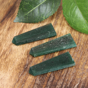 Green Aventurine (dark green) Flat Point 1pc