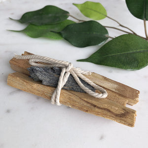 Palo Santo - Black Kyanite Bundle