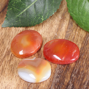 Orange Agate Palm Stone 1pc