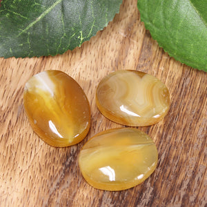 Yellow Agate Palm Stone 1pc