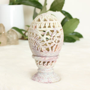 Soapstone Tealight Candle Egg Shape