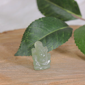 Green Aventurine Ganesh Carving - Small 1pc