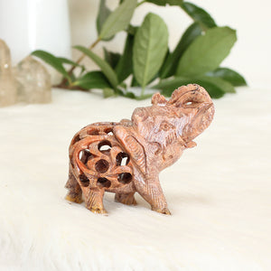 Soapstone Elephant - Medium