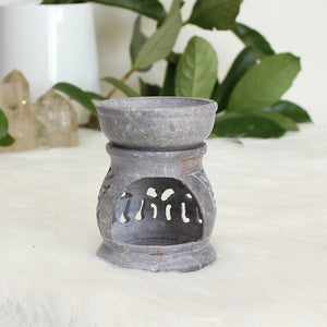 Soapstone Aroma Candle Holder - Small