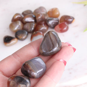 Agate Natural Brown Colour Tumbled Stones