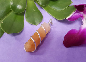 Yellow Aventurine Spiral Point Pendant