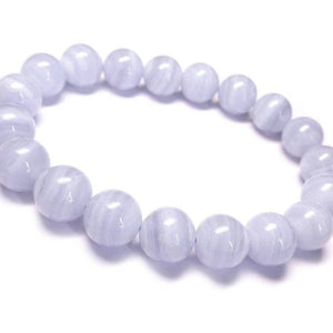 Blue lace Agate Bead Bracelet 8/10mm