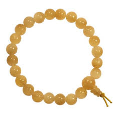 Yellow Calcite Power Bead Bracelet 8mm