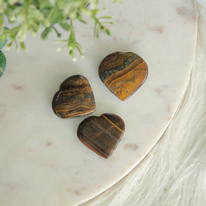 Tigers Eye Heart Small 1pc
