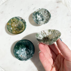 Tree Agate Bowls Small